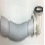 Сифон для низких поддонов диаметр 85мм,гофротрубы 35мм DK-470